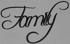 Family Metal Wall Art Home Decor Flat Black