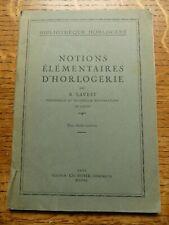 Notions Elementaires D' Horlogerie 1935 R. Lavest - Bibliotheque Horlogere