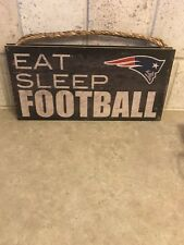 NFL NEW ENGLAND PATRIOTS EAT SLEEP FOOTBALL 6×12 Wooden sign MADE IN USA