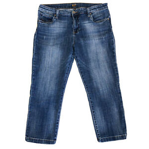 Kut From the Kloth Mid Crop Straight Leg Jeans Size 14