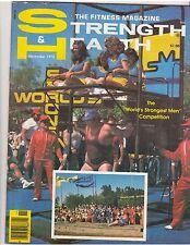 STRENGTH & HEALTH muscle magazine/World Strongest Man BRUCE WILHELM 11-78