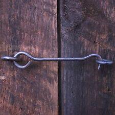 BLACK 75MM SCREW IN GATE HOOK AND EYE Cupboard Pat Hutch Shed Door Field Latch