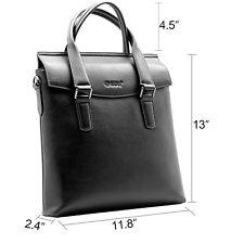 Men's Genuine 1st Layer Leather Retro Handbag Briefcase Shoulder Messenger Bag