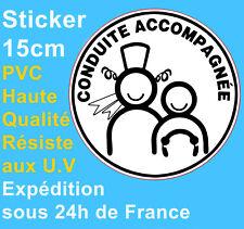 Sticker Autocollant Disque Conduite accompagnée Bretagne automobile voiture 15cm