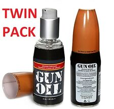 Twin Pack Gun Oil Silicone Lubricant 2oz / 59ml x 2 Bottles