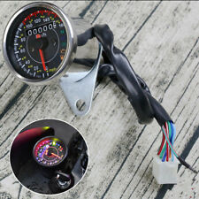 Universal Motorcycle Stainless Speedometer Odometer Indicator KM/H MPH Gauge 1x