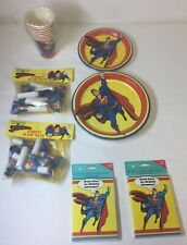 1992/1993 SUPERMAN party kit ~ invitations,plates,cups,blow-outs