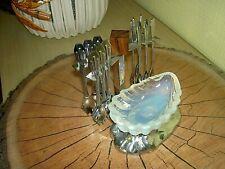 Service Ancien Apéritif + 12 fourchettes - époque RETRO Métal Bakélite Opaline