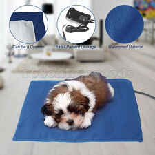 Pet Electric Heat Heated Heating Pad Mat Blanket Bed Dog Cat Bunny Waterproof AU