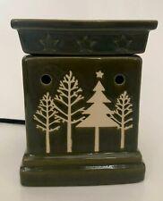 Scentsy Tannenbaum Fragrance Warmer Green Pine Tree Holiday Winter Full Size EUC