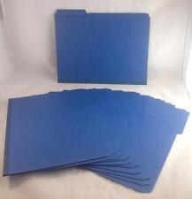Smead 21541 Dark Blue Colored Pressboard File Folders (10 Folders)