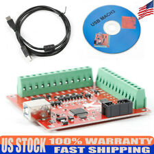 Usb 4 Axis Interface Breakout Board Cnc Controller Card Fit For Stepper Motor