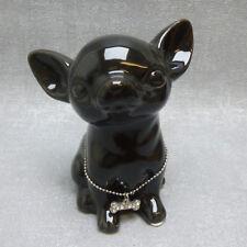 Casablanca Deko Spardose Mini Dog Chihuahua Hund edel modern Geschenk schwarz