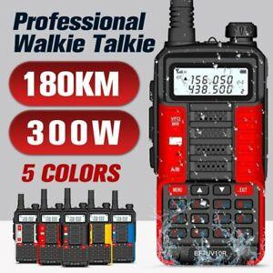 Portable UV-10R 300W Walkie Talkie Long Range UHF/VHF Dual Band Two Way FM Radio