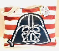 RARE Disney Parks Star Wars Darth Vader Large Beach Shoulder Bag Tote NWT