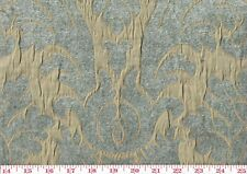 Blue Textured Chenille Damask by P Kaufmann Drapery Fabric Capulet Cl Horizon