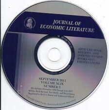 Journal of Economic Literature (12/1994 - 9/2011 Articles Book reviews #3 Cd)