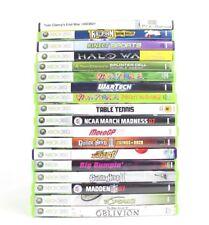 Lot of 18 XBOX 360 GAMES Halo Wars, Guitar Hero 2 & 3, Kinect Sports, Madden...u