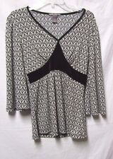 Suzie Couture S 4/6 Bust 38 blouse shirt black/ white print