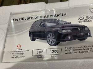 CLASSIC CARLECTABLES 1:18 SCALE HOLDEN COSMO VY SS UTE PLUS CANOPY BRAND NEW...