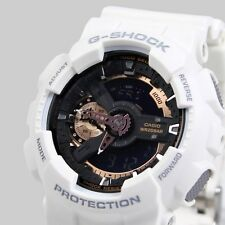 *NEW* CASIO MENS G SHOCK WHITE ROSE GOLD WATCH XL GA-110RG-7AER 7ADR