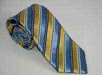 Men's Ermenegildo Zegna Italy Silk Tie Necktie Business Career Striped Textured