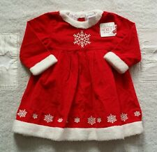 NWT HANNA ANDERSSON GIRLS DRESS RED CORDUROY CHRISTMAS 80