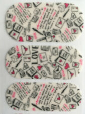 Jamberry Nail Wraps Half Sheet Matte Love Letters Pink White Valentine Free Ship