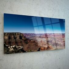 Wall Art Glass Print Canvas Picture Large Grand Canyon USA Sky p28078 100x50cm
