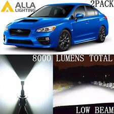 Alla Lighting Low/Main Beam Headlight H11 White LED Bulb for Subaru Impreza WRX