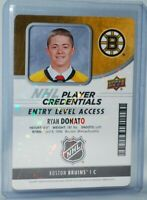 2018-19 Upper Deck MVP Credentials Access #NHL-RD Entry Level Rookie Ryan Donato