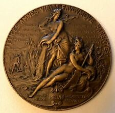 FRANCE 1891 / Nude Ladies / BRONZE MEDAL by Bourgeois / RARE / 50 mm / N142