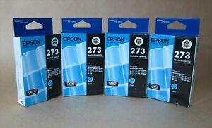 [1069*] 4x (FOUR) EPSON 273 (C13T273292) CYAN INKS ( RRP>$80 )