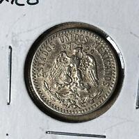 1930 Mexico 20 Centavos Silver Coin XF+ Condition Key Date