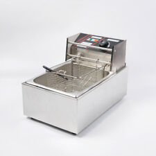 Vic 220v Commercial Electric Deep Fryer With Basket 6l Tabletop Machine For Fry