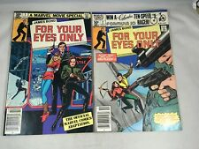 James Bond For Your Eyes Only # 1 & 2 Marvel Comics 1981 Movie Adaption FN/VF