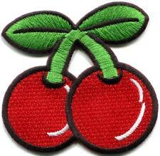 Cherry cherries fruit retro vegas slots applique iron-on patch new S-193