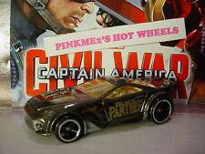 2016 Marvel CAPTAIN AMERICA Civil War BLACK PANTHER☆SCORCHER☆LOOSE Hot Wheels