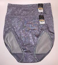 NWT 2 Vanity Fair Body Caress 13137 High Hi Cut Panties Stone Lace Print 7/L