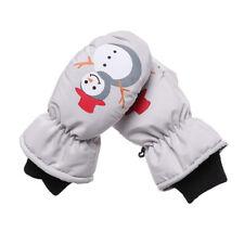 Kids Waterproof Knitted Mittens Thick Velvet Children Ski Gloves Windproof