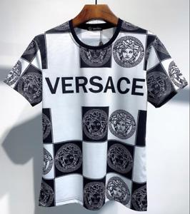 Summer The best gift for husband men's Versace T-shirt Short sleeve