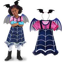 Vampirina Cosplay Dress Wing Kids Girls Headwaer Fancy Dress Party Costume Lot