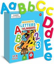 Curious Columbus Magnetic Letters and Numbers. Set of 115 Premium Quality ABC