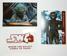 2019 Lot Of 2 Star Wars Topps Promo Cards & 1 Sticker
