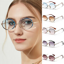 Oval Sunglasses Women 2021 Fashion Gradient Rimless Sun Glasses Shades Eyewear