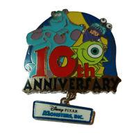 Disney Pixar Monsters Inc.10th Anniversary Dangle LE 1000 Disney Pin #86347
