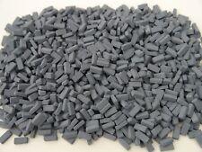 1000 1:12th Scale Miniature Dolls House Grey/ Blue Briquettes / Briquette Bricks