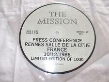 """MISSION - PRESS CONFERENCE RENNES SALLE DE LA CITIE- UK 7"""" PICTURE DISC VINYL"""