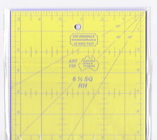 """6.5"""" x 6.5"""" square ruler - for patchwork, crafting - use with rotary cutter"""