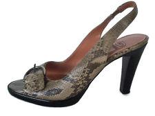 Circa Joan & David Djotsego Womens Heels Slingback Snake Print Leather Size 7.5M